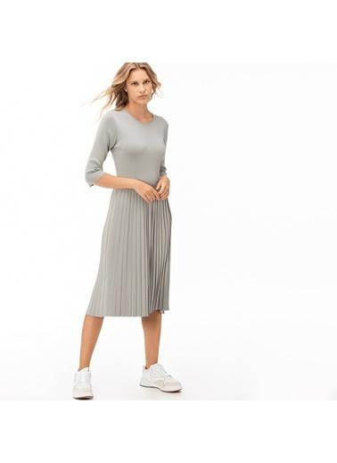 Lacoste Kadın Truvakar Kollu Elbise EF2048.48G Gri